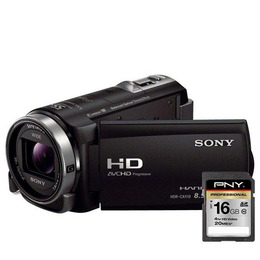 SONY HDRCX410 Full HD Camcorder with PNY 16 GB Professional Class 10 SDHC Memory Card