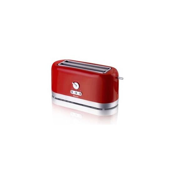 Swan ST10090REDN 4 Slice LongSlot Red Toaster