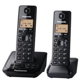 Panasonic KX-TG2722EB Cordless Phone with Answering Machine - Twin Handsets