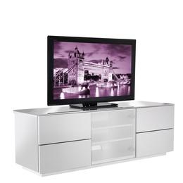 UKCF London Designer High Gloss White TV Cabinet. Up to 65'' screens. Beam thru glass Reviews