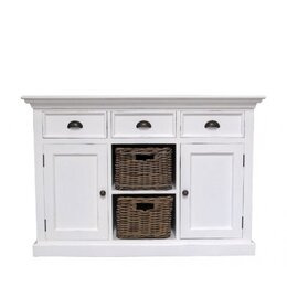 Ametis Whitehaven Painted Buffet With 2 Rattan Baskets