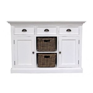 Photo of Ametis Whitehaven Painted Buffet With 2 Rattan Baskets Furniture