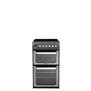 Photo of Hotpoint HUE53G S   - Graphite Freestanding 50CM Fan Double Oven Cooker