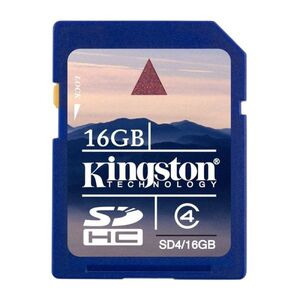 Photo of Kingston SDHC Class 4 (16GB) Memory Card