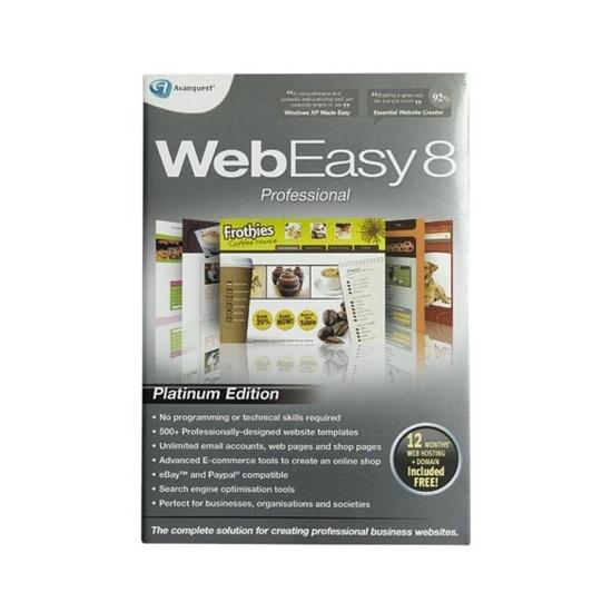 Avanquest Web Easy 8 Professional Platinum