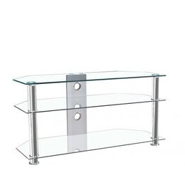 "MMT JET MMT-CL1000 CLEAR GLASS CORNER TV STAND FOR UP TO 46"" SCREENS Reviews"