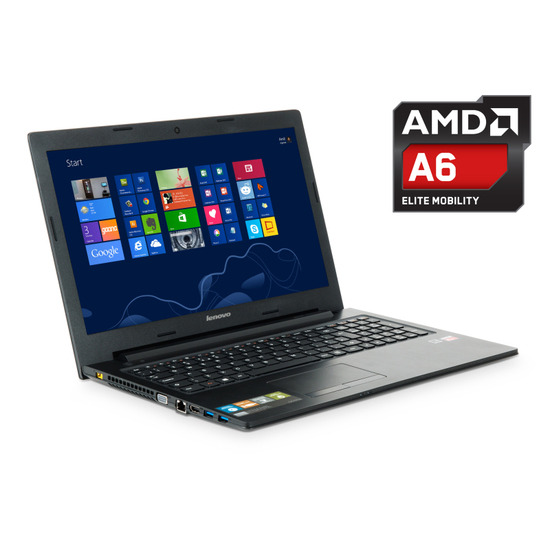 "Lenovo IdeaPad G505 Laptop, AMD A6-5200M 2GHz, 6GB RAM, 1TB HDD, 15.6"" TFT, DVDRW, AMD, Bluetooth, HD Webcam, Windows 8.1 64bit"