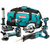 Photo of Makita DK18027 18V LXT Lithium-Ion 6 Piece Cordless Kit (3 X 3AH Batteries) Power Tool
