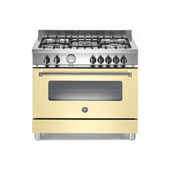 Bertazzoni Master 90 A905MFECRE Dual Fuel Range Cooker - Cream