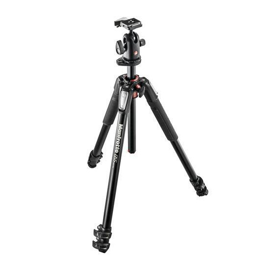 Manfrotto 055XPRO3 3-section Aluminium Tripod + 498RC2 Head
