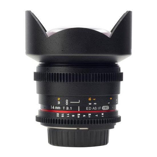 Samyang 14mm T3.1 ED AS IF UMC VDSLR Lens (Canon EF)
