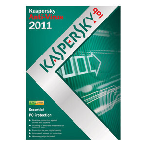 Photo of Kaspersky Anti Virus Software Version 2011 1 Year 1 User Software