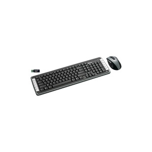 Photo of Trust XPERTTOUCH Wireless Optical Deskset DS-3400D UK - Keyboard - Wireless - RF - Mouse - USB Wireless Receiver - UK Keyboard