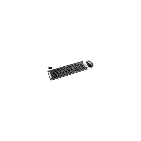 Trust XpertTouch Wireless Optical Deskset DS-3400D UK - Keyboard - wireless - RF - mouse - USB wireless receiver - UK