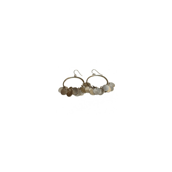 Vinnie Day Silver Moon Small Hoop Earring