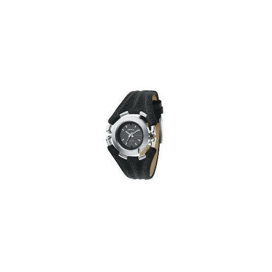 Diesel Black Leather Watch