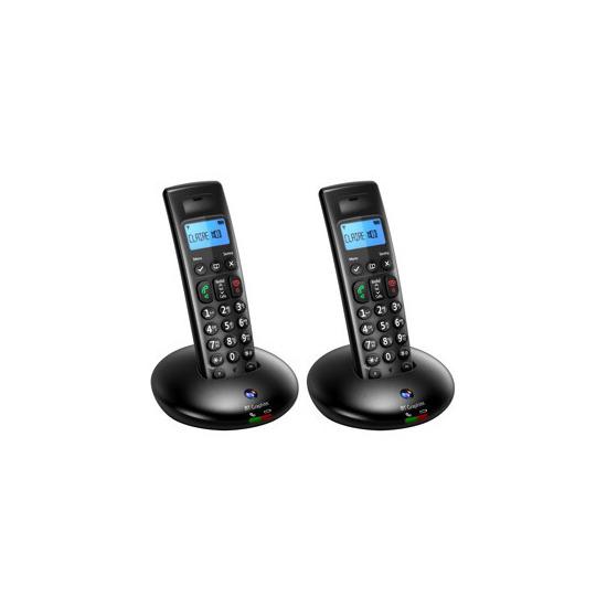 BT Graphite 2100 Twin Telephone