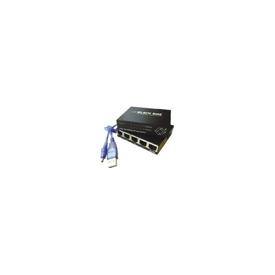 Black Box Ultra-Compact - Switch - 5 ports - EN, Fast EN - 10Base-T, 100Base-TX