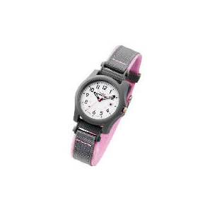 Photo of Timex Expedition Grey & Pink Fabric Strap Watch Watches Woman