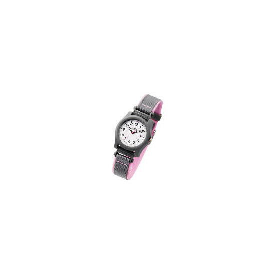 Timex Expedition Grey & Pink Fabric Strap Watch