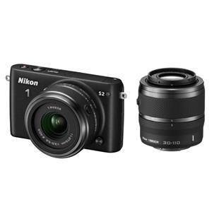 Photo of Nikon 1 S2 Compact System Camera In Black With 11-27.5 + 30-110MM Lenses Digital Camera