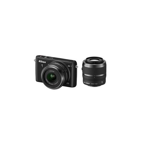 Nikon 1 S2 Compact System Camera in Black with 11-27.5 + 30-110mm Lenses
