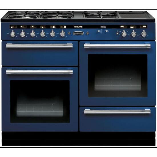 Hi-Lite 110 Dual Fuel Range Cooker - Blue & Chrome