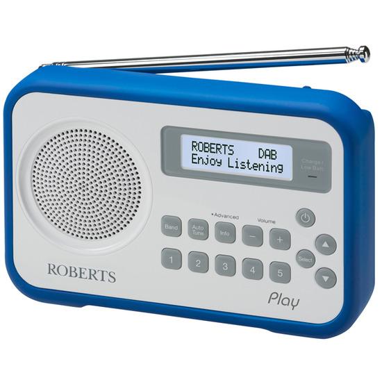 ROBERTS Play Portable DAB+ Radio - White & Blue