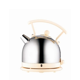DUALIT 72702 Traditional Kettle - Stainless Steel & Cream