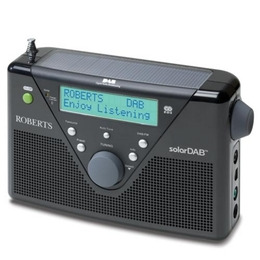 ROBERTS Solar Portable DAB Radio - Black