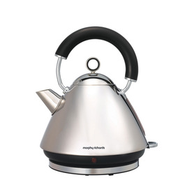 Morphy Richards Accents 43825 Pyramid Traditional Kettle - Polished Stainless Steel