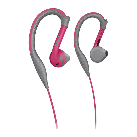 Philips SHQ2200PK/10 Headphones - Pink & Grey