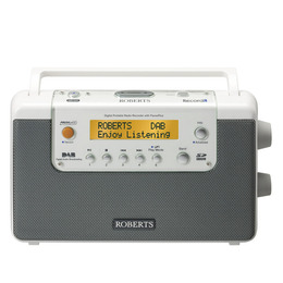 ROBERTS RecordR Portable DAB Radio - White