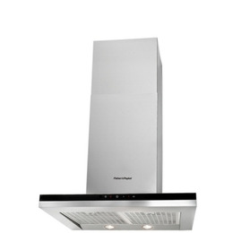 FISHER & PAYKEL HC60DCXB1 Canopy Cooker Hood - Stainless Steel & Black Glass