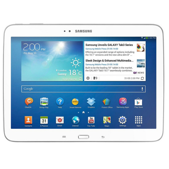 "Samsung Galaxy Tab 3 10.1"" WiFi Tablet - 16 GB, White"