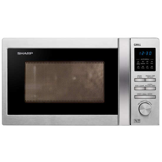 Sharp R722STM Microwave with Grill - Stainless Steel