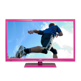 Logik L24FEDP13 24 LED TV with Built-in DVD Player - Pink
