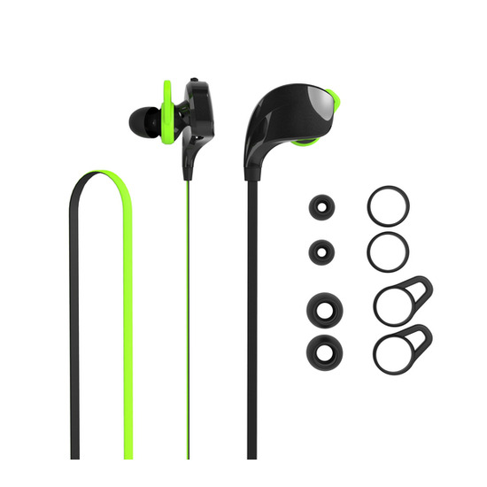 GINBT14 Bluetooth Headphones - Black & Neon Green