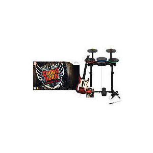 Photo of Guitar Hero: Warriors Of Rock (Complete Band Kit) (Wii) Video Game