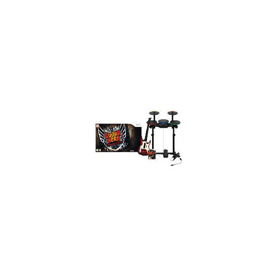 Guitar Hero: Warriors of Rock (Complete Band Kit) (Wii)