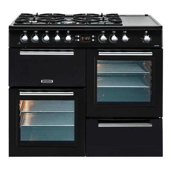 Leisure AL100F210K Dual Fuel Range Cooker - Black & Chrome