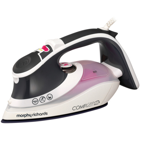 Morphy Richards Comfigrip 301018 Steam Iron - Charcoal & Pink
