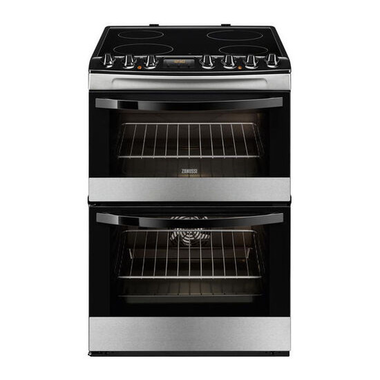 Zanussi ZCV68330XA Electric Ceramic Cooker - Stainless Steel