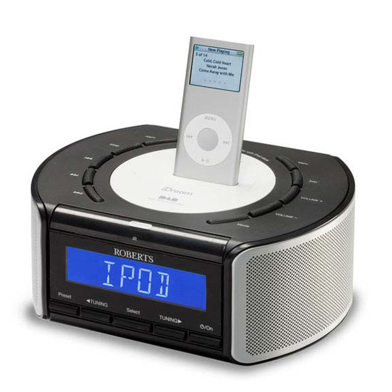iDream DAB/FM Clock Radio with iPod Dock