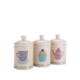 Tesco Time For Tea Tea, Coffee & Sugar Canister Set Reviews