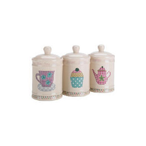 Photo of Tesco Time For Tea Tea, Coffee & Sugar Canister Set Kitchen Accessory