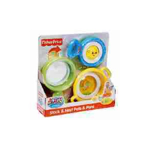 Photo of Fisher Price Brilliant Basics Stack & Nest Pots & Pans Toy