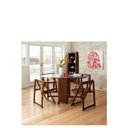 Ella 4 Seat Rubberwood Butterfly Set, Walnut Reviews