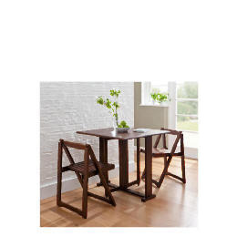 Ella 2 Seat Rubberwood Butterfly Set, Walnut Reviews