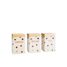Tesco Terracotta Spot Tea, Coffee & Sugar Canister Set Reviews